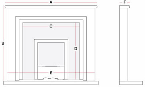 Fire surround sizes