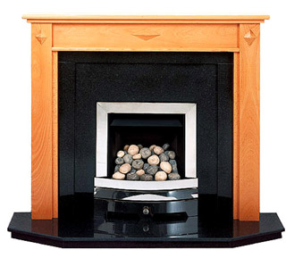 Diamond Beech fireplace surround
