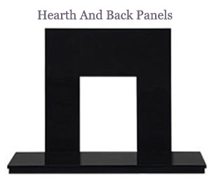 Hearth and back panels logo