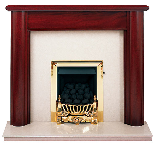 Maltby mahogany fire surround