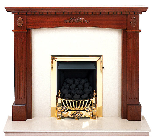 Windsor mahogany fire surround