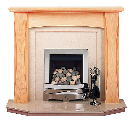 The Lorna maple fire surround