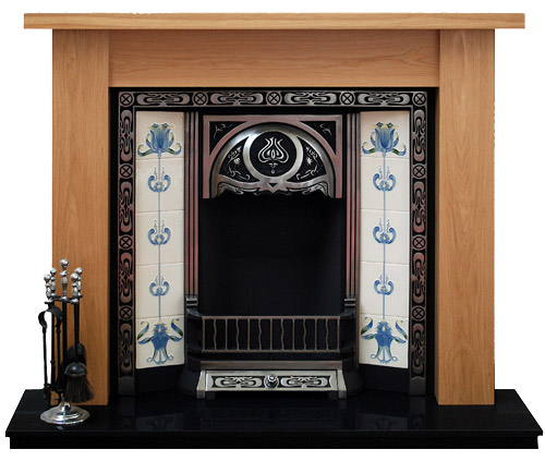 Camden oak fire surround