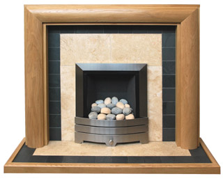 Derby oak fire surround