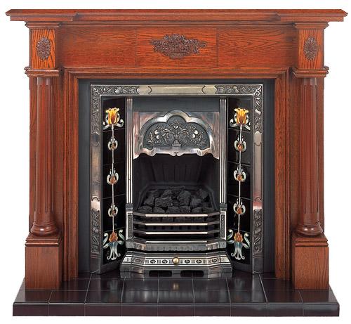 The Full Pillar Oak Fireplace Nottingham London