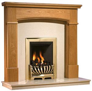Hampshire Oak fireplace