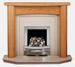 Kensington oak fireplace surround
