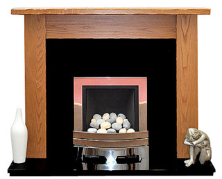 Minster oak fireplace