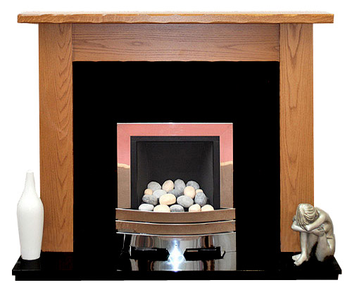 Minster oak fire surround