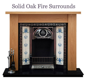 Oak fire surrounds logo