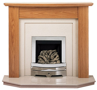 Orion Arch oak fireplace
