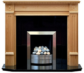 Roundel Oak fireplace surround