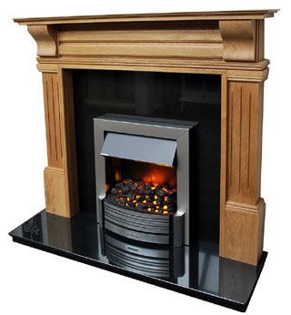 Timeless oak fireplace surround
