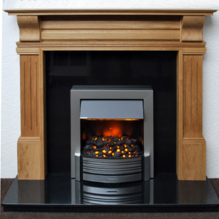 Timeless solid oak fireplace