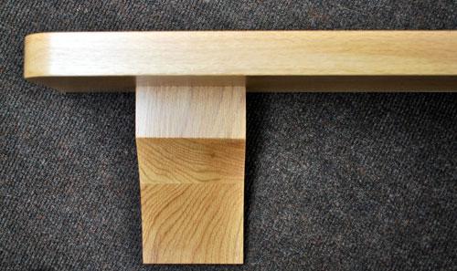 Oak Mantel Shelf Rounded Corners Nottingham Uk