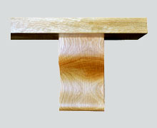 Oak Mantel Shelf Plain edge