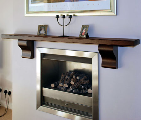 solid oak mantel shelf