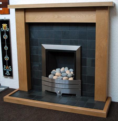 Black Slate Fireplace Nottingham Leicester Uk