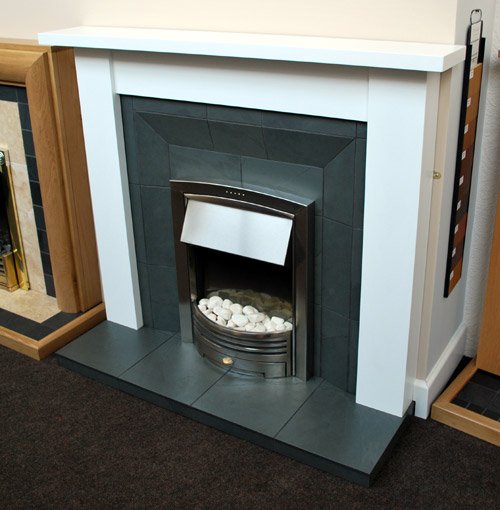 Grey slate shaped fireplace Nottigham