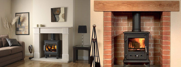 Wooden fire surrounds for stoves