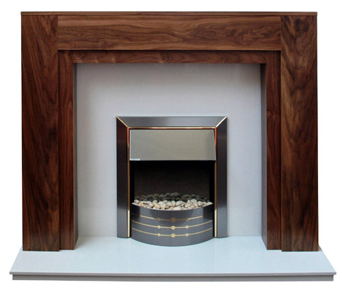 Boxster Walnut Fireplace Prestige Fireplaces