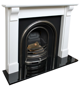 Bedford white fireplace surround