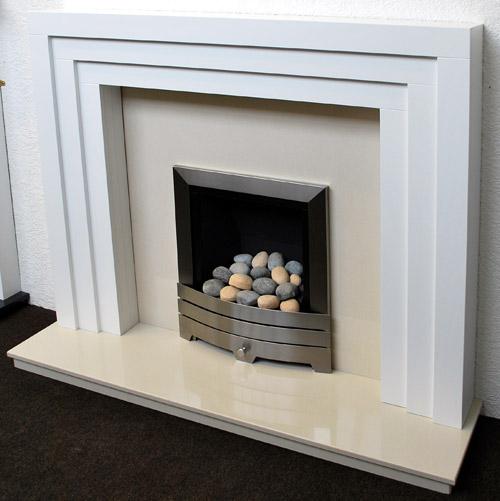 Cambridge White Fireplace Prestige Fireplaces Nottingham