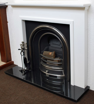 Excellent White Fire Surrounds White Wooden Fireplaces Buy Direct Interior Design Ideas Inamawefileorg