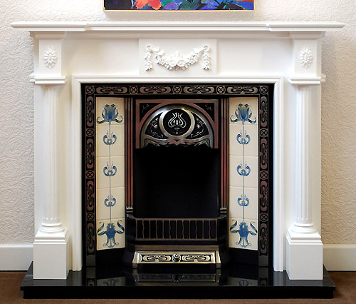 Full pillar white Fire Surround