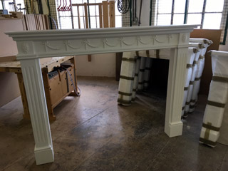 Large white fire surround