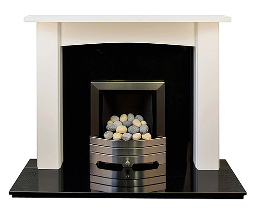 The Newark white fire surround