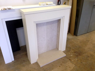 Small white fire surround
