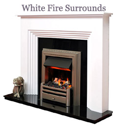 White Fire Surrounds Logo