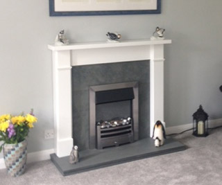 White fire surround Hampshire