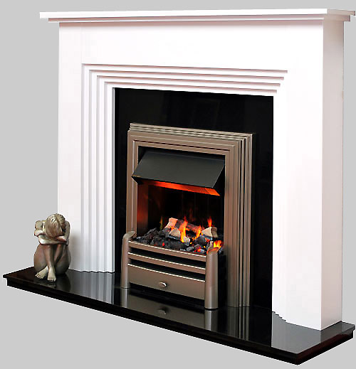 The twyford white fireplace nottingham london leicester uk - Black and white fireplace ...